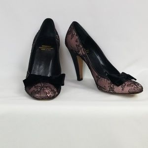 MOSCHINO Cheap and Chic lace pump heels, sz38